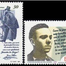 Sellos: ESPAÑA 1995 - LITERATURA ESPAÑOLA - EDIFIL Nº 3356-3357. Lote 100635403