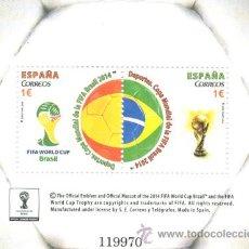 Sellos: AÑO 2014 (4890) HB COPA MUNDIAL FIFA BRASIL 2014 (NUEVO). Lote 48672067
