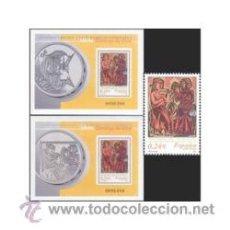 Sellos: AÑO 2001 (3817-3819) HB SANTO DOMINGO DE SILOS (NUEVO). Lote 48680393