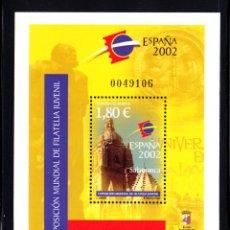 Sellos: ESPAÑA 3878** - AÑO 2002 - EXPOSICION FILATÉLICA INTERNACIONAL JUVENIL ESPAÑA 2002 . Lote 48912544