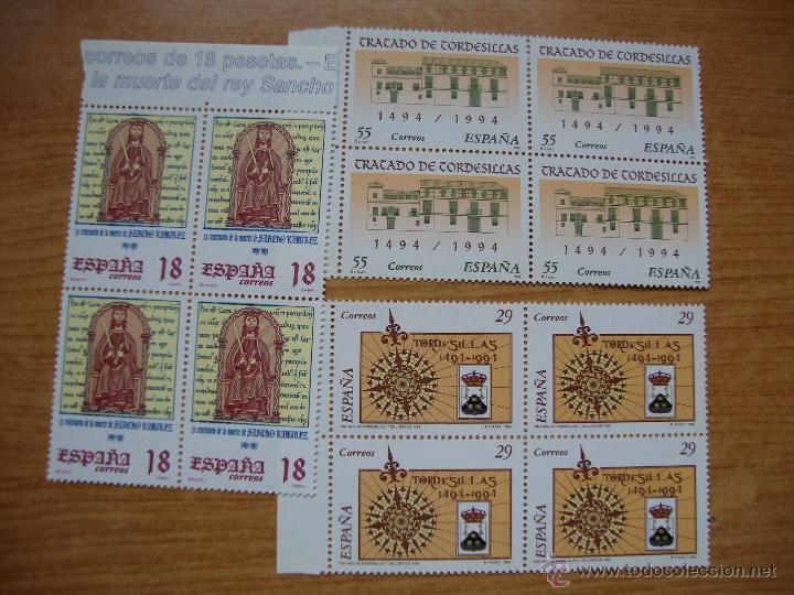 EFEMERIDES AÑO 1994 BLOQUE D CUATRO NUEVOS SIN CHARNELAS PRACTICAMENTE FACIAL (Sellos - España - Juan Carlos I - Desde 1.986 a 1.999 - Nuevos)