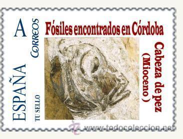 TU SELLO. SERIE DE SIETE SELLOS DE FOSILES DE CORDOBA (Sellos - España - Juan Carlos I - Desde 2.000 - Nuevos)