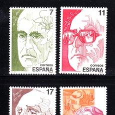 Sellos: ESPAÑA 2853/56** - AÑO 1986 - PERSONAJES. Lote 49389411