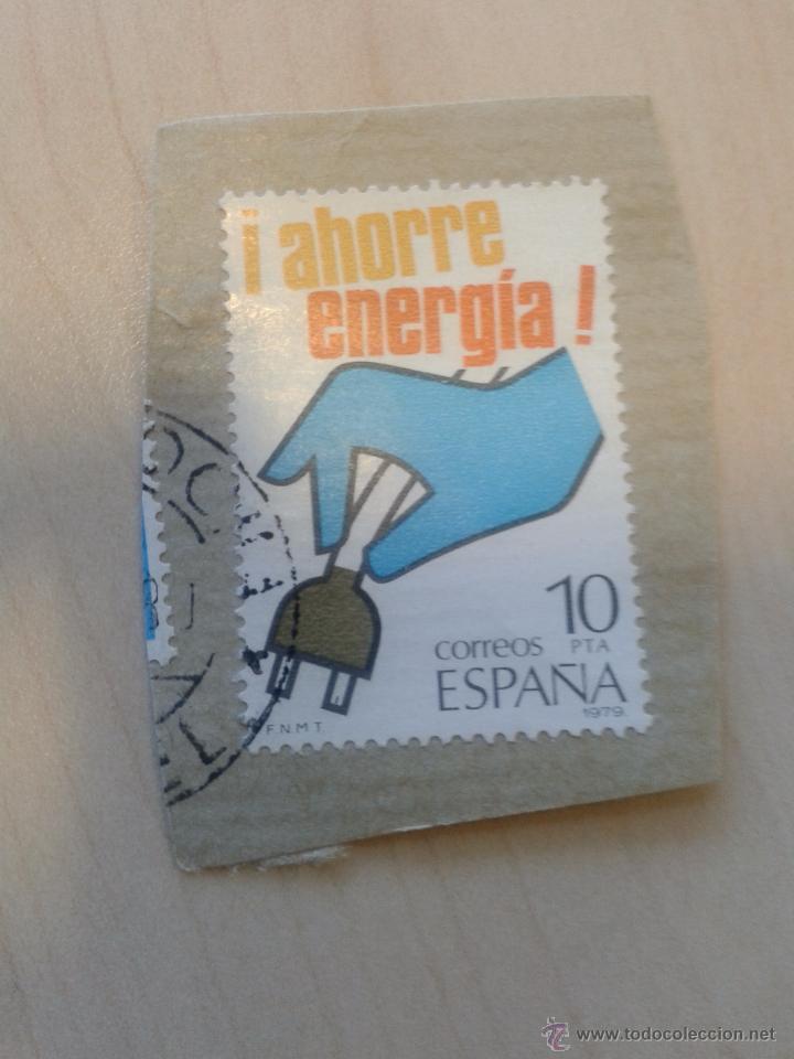 SELLO 10 PESETAS. 1979. AHORRE ENERGIA. MATASELLADO (Sellos - España - Juan Carlos I - Desde 1.975 a 1.985 - Usados)