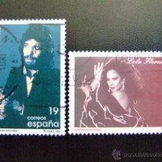 Sellos: ESPAÑA 1996 CAMARON DE LA ISLA Y LOLA FLORES EDIFIL 3442 / 43 º FU YVERT 3023 / 24 º FU. Lote 49720172