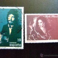Sellos: ESPAÑA 1996 CAMARON DE LA ISLA Y LOLA FLORES EDIFIL 3442 / 43 º FU YVERT 3023 / 24 º FU. Lote 49720189