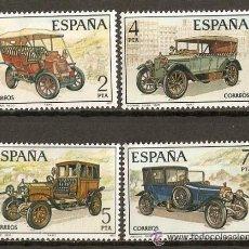Sellos: ESPAÑA AUTOMOVILES ANTIGUOS ESPAÑOLES EDIFIL NUM. 2409/12 ** SERIE COMPLETA SIN FIJASELLOS. Lote 222519495