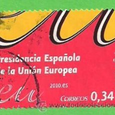 Sellos: EDIFIL 4547. PRESIDENCIA ESPAÑOLA DE LA UNIÓN EUROPEA. (2010).. Lote 49952734