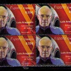 Sellos: ESPAÑA 2015 - LUIS ARAGONES - 1 SELLO EN BLOQUE DE 4 - EDIFIL Nº 4962**. Lote 49996976