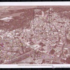Sellos: ESPAÑA 2015 - SEGOVIA - PATRIMONIO MUNDIAL DE LA HUMANIDAD - 1 HOJA BLOQUE - EDIFIL Nº 4970. Lote 113839479