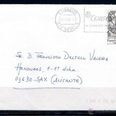 Sellos: CARTA CIRCULADA ENTRE SEVILLA Y SAX . 03-11-2009. Lote 50046112