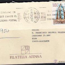 Sellos: CARTA ENTRE MADRID Y ELDA. 16-11-99. Lote 50046200