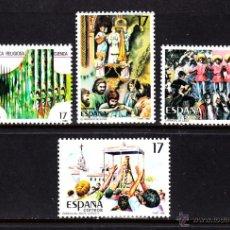 Sellos: ESPAÑA 2840/43** - AÑO 1986 - FIESTAS POPULARES ESPAÑOLAS. Lote 50046485