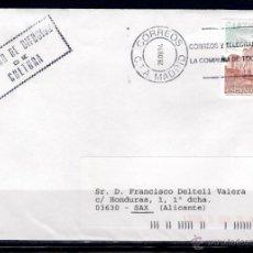 Sellos: CARTA DE MADRID A SAX, ALICANTE (28-09-2004). Lote 50103294