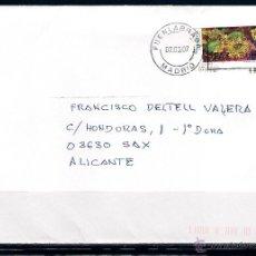 Sellos: CARTA DE FUENLABRADA, MADRID A SAX , ALICANTE (07-03-2007. Lote 50103340