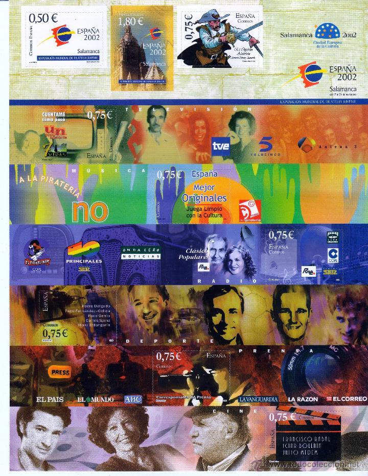 ESPAÑA 2002. PLIEGO. EXPOSICION FILATELICA JUVENIL **.,MNH (Sellos - España - Juan Carlos I - Desde 2.000 - Nuevos)