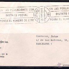 Sellos: CARTA BARCELONA CIUDAD. (18-5-1984). Lote 50111692