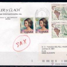 Sellos: CARTA CIRCULADA ENTRE BARCELONA Y ELDA. (15-09-2000). Lote 50164040