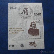 Sellos: 2015, HOJITA 400 ANIV. CASA DE LA MONEDA DE MADRID. Lote 50258704