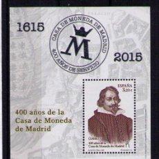 Sellos: ESPAÑA 2015 - 400 AÑOS DE LA CASA DE LA MONEDA - HOJITA BLOQUE - EDIFIL Nº 4975**. Lote 50419979