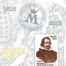Sellos: AÑO 2015 (4975) HB 400 AÑOS CASA DE LA MONEDA (NUEVO). Lote 50481030
