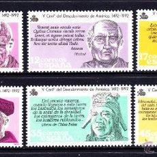 Sellos: ESPAÑA 2860/65** - AÑO 1986 - 5º CENTENARIO DEL DESCUBRIMIENTO DE AMERICA. Lote 50524263