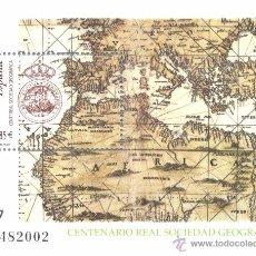 Sellos: ESPAÑA 2003. CENTENARIO DE LA REAL SOCIEDAD CEOGRAFICA. EDIFIL Nº 4021. ¡¡¡A FACIAL!!!. Lote 152507642
