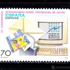 Sellos: ESPAÑA 3555** - AÑO 1998 - 20º CONFERENCIA INTERNACIONAL SOBRE PROTECCION DE DATOS. Lote 50618125