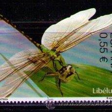 Sellos: ESPAÑA 2015 - FAUNA - LIBELULA - DRAGONFLY - LIBELLULE - 1 SELLO - EDIFIL Nº 4982**. Lote 50622782