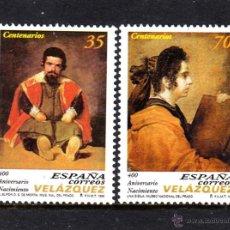 Sellos: ESPAÑA 3658/59** - AÑO 1999 - PINTURA - 400º ANIVERSARIO DEL NACIMIENTO DE DIEGO VELAZQUEZ. Lote 50682435