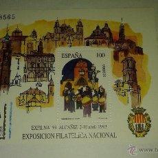 Sellos: LOTE DE DOS LAMINAS SOBRE DOS EXPOSICIONES NACIONALES DE FILATELIA, AÑOS 1993 Y 1989. Lote 50983158