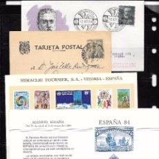 Sellos: ESPAÑA. 3 PIEZAS DE HISTORIA POSTAL Y 1 TARJETÓN. Lote 51523653