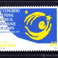 Sellos: ESPAÑA 3517** - AÑO 1997 - CONGRESO MUNDIAL SOBRE EL SINDROME DE DOWN. Lote 51624294