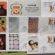 Sellos: ESPAÑA 1982 14 SOBRES PRIMER DÍA DE CIRCULACIÓN MUNDIAL DE FUTBOL SPAIN. Lote 51788247