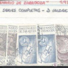 Sellos: 8512- 3 SERIES COMPLETAS 1976- BIMILENARIO DE ZARAGOZA. Lote 51883666
