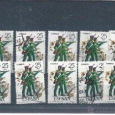 Sellos: 8512- 10 SELLOS DE 25 PTS. 1976- UNIFORMES MILITARES- VI GRUPO. Lote 51885875