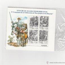 Sellos: ESTUCHE DE SELLOS CONMEMORATIVOS IV CENTENARIO PUBLICACION DON QUIJOTE NUEVO. Lote 52001557