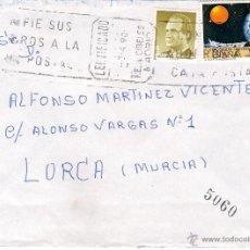 Sellos: CARTA CERTIFICADA DE ALCORCÓN, A LORCA, EL 3-4-90. Lote 52120448