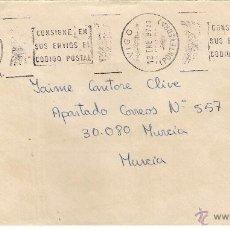 Sellos: CARTA DE VIGO, A MURCIA. DD. 12-ENE-87. Lote 52121301