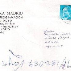 Sellos: CULTURA MADRID. MERCA OCIO. CARTA DE MADRID A LORCA, EL 1-10-92. Lote 52315535