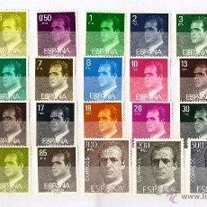 Sellos: ESPAÑA 1982-1990. PRIMERA SERIE BASICA DE JUAN CARLOS I EN PAPEL FOSFORESCENTE. 27 VALORES. Lote 52327124
