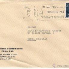 Sellos: GANADERÍAS DE LIDIA. JAEN. CARTA A LORCA, EL 4-3-85. Lote 52330941