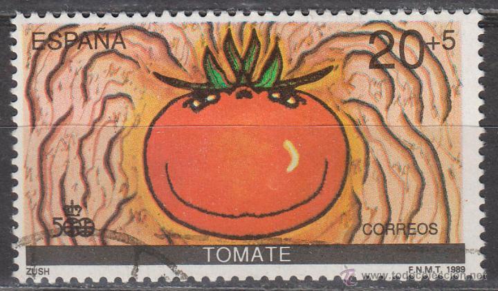 EDIFIL 3031, V CENTENARIO DEL DESCUBRIMIENTO DE AMERICA, EL TOMATE, USADO (Sellos - España - Juan Carlos I - Desde 1.986 a 1.999 - Usados)