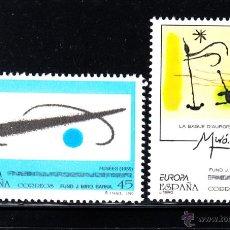 Sellos: ESPAÑA 3250/51** - AÑO 1993 - EUROPA - ARTE CONTEMPORANEO - PINTURA - OBRAS DE JOAN MIRO . Lote 52622809