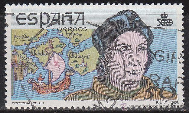 EDIFIL 2923, CRISTOBAL COLÓN, 5º CENTENARIO DESCUBRIMIENTO DE AMERICA, USADO (Sellos - España - Juan Carlos I - Desde 1.986 a 1.999 - Usados)