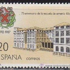 Sellos: EDIFIL 2907, 75 ANIVº DE LA ESCUELA DE ARMERIA DE EIBAR, NUEVO ***. Lote 52715070