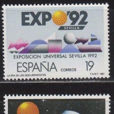 Sellos: EDIFIL Nº 2875/6, EXPOSICIÓN UNIVERSAL DE SEVILLA, EXPO 92, NUEVO ***. Lote 52733147