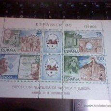 Sellos: EXPOSICION AMERICA Y EUROPA FILATELICA 80 OCTUBRE MADRID ESPAMER 80 4143233 HOJA BLOQUE . Lote 52762192