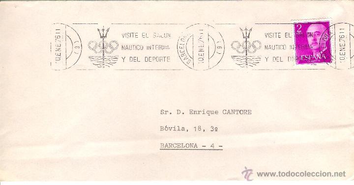 SALÓN NÁUTICO . CARTA BARCELONA (CIUDAD) EL 10-1-76 (Sellos - España - Juan Carlos I - Desde 1.975 a 1.985 - Cartas)