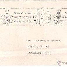 Sellos: SALÓN NÁUTICO . CARTA BARCELONA, EL 10-1-76. Lote 52776812